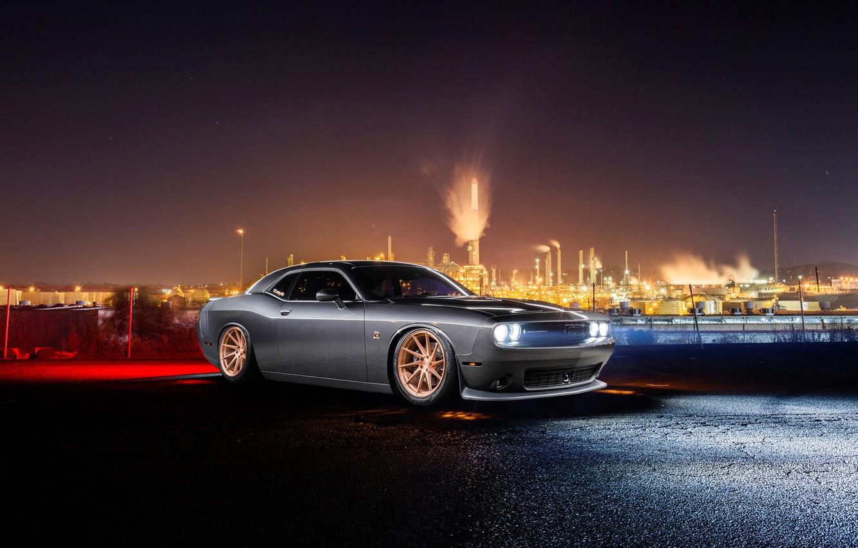 Photo wallpaper Dodge, Challenger, Car, Front, Avant Garde Wheels