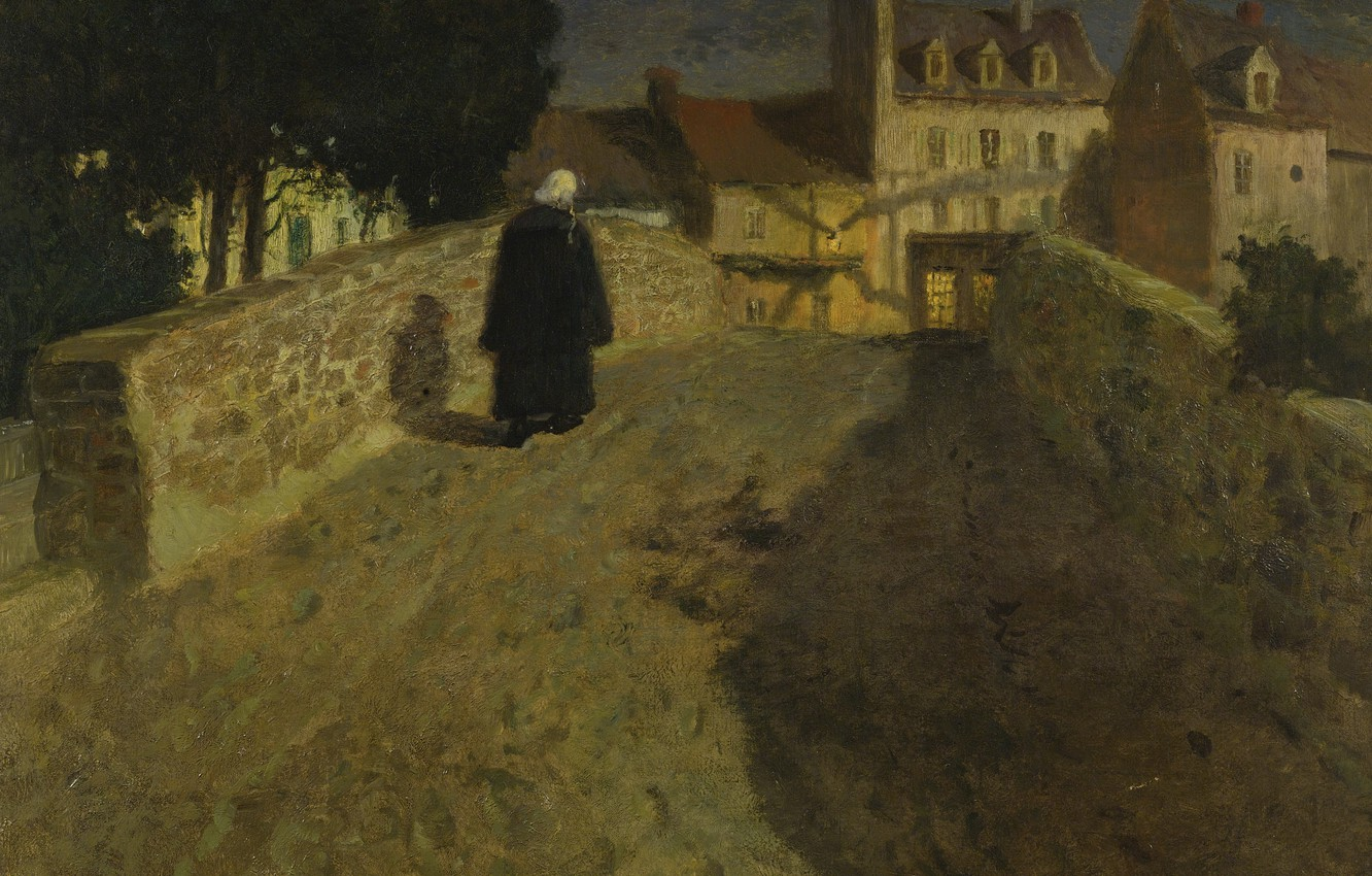 Photo wallpaper night, Frits Thaulov, in Quimperlé, Towards the Pont Lovignon
