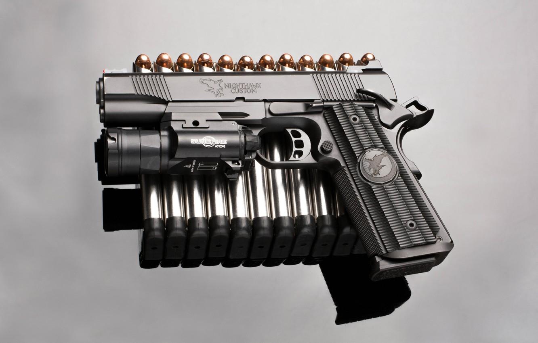 Photo wallpaper gun, background, bullets