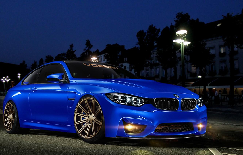Photo wallpaper Blue, BMW, Tuning, BMW, Car, Blue, Tuning, Vossen