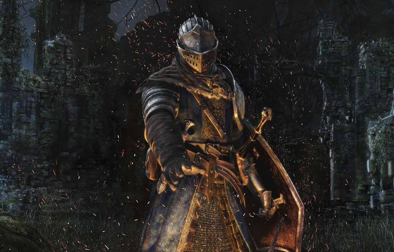 Photo wallpaper Armor, Ruins, Armor, Knight, Dark Souls, Namco Bandai Games, From Software, Remastered, Dark Souls Remastered