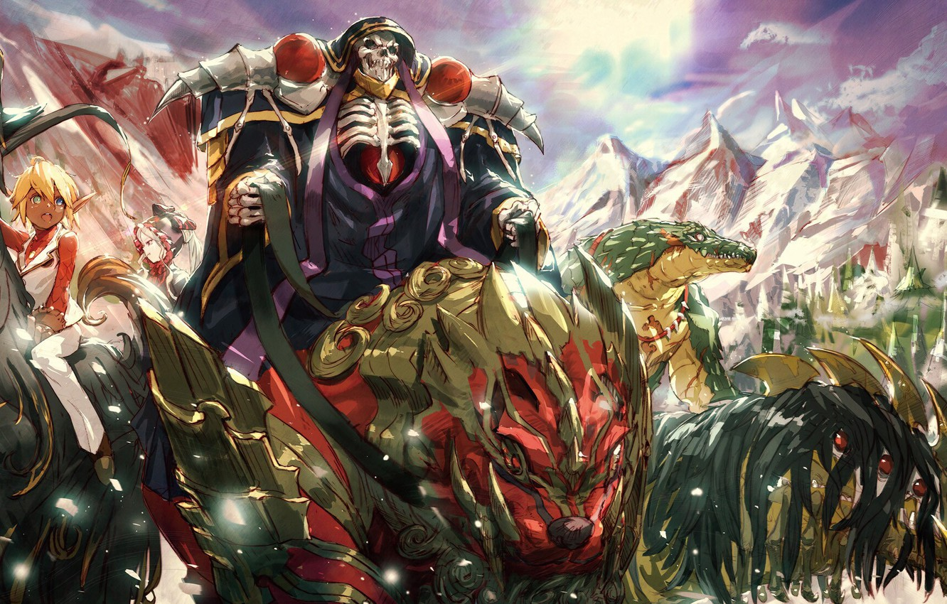 Wallpaper Girl Anime Art Skeleton Overlord The Lord Images For Desktop Section Syonen Download