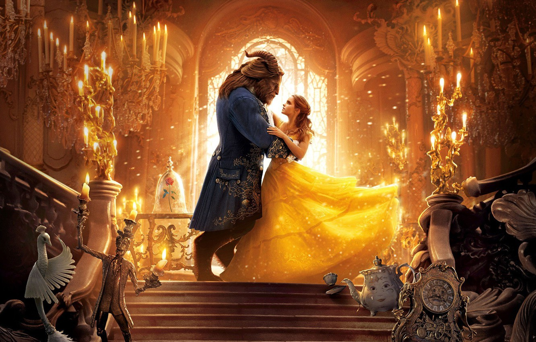 Wallpaper Cinema Disney Emma Watson Dress Woman Lion Man Movie Film Goat Dan Stevens Bela Kyle Kingson Beauty And The Beast Images For Desktop Section Filmy Download