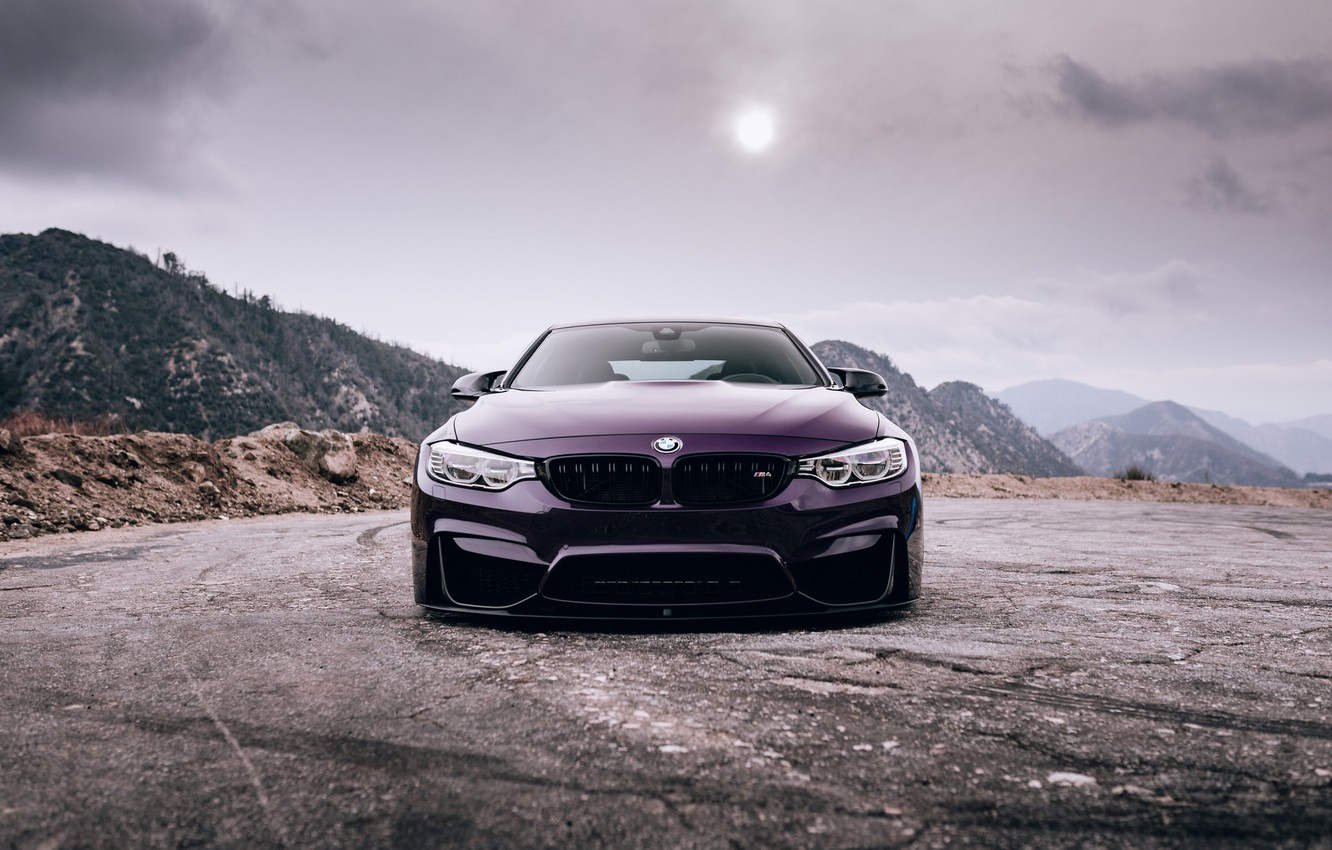 Photo wallpaper BMW, Purple, Front, Face, F82, Sight