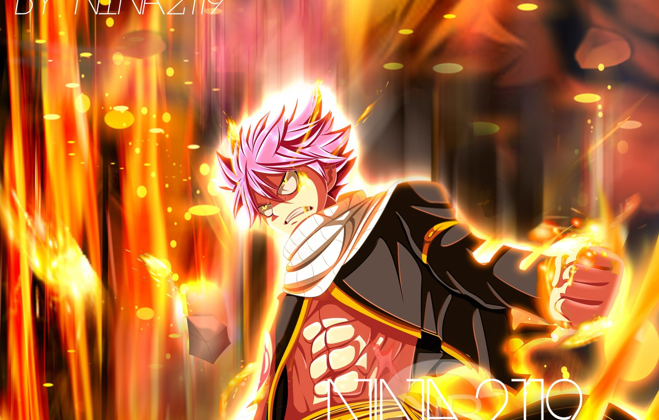 Wallpaper Anime Art Fairy Tail Natsu Dragneel Fairy Tail
