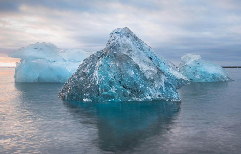 Photo wallpaper winter, sea, Nature, ice