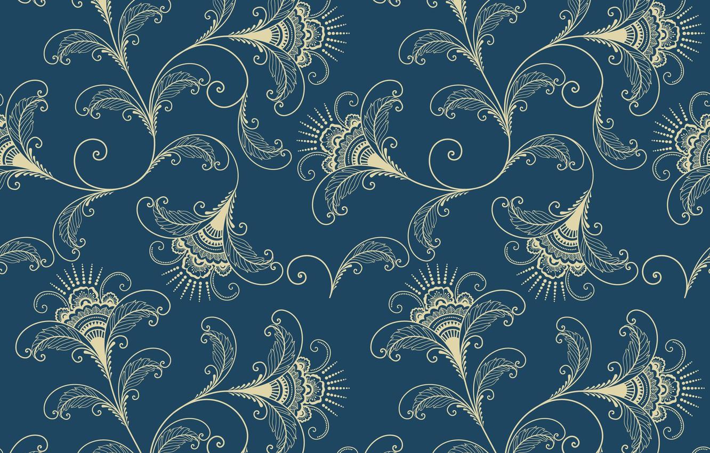 Wallpaper Pattern Vector Vector Texture Ornament Flower