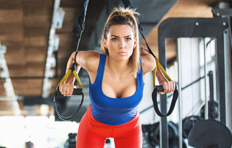 Photo wallpaper model, female, workout