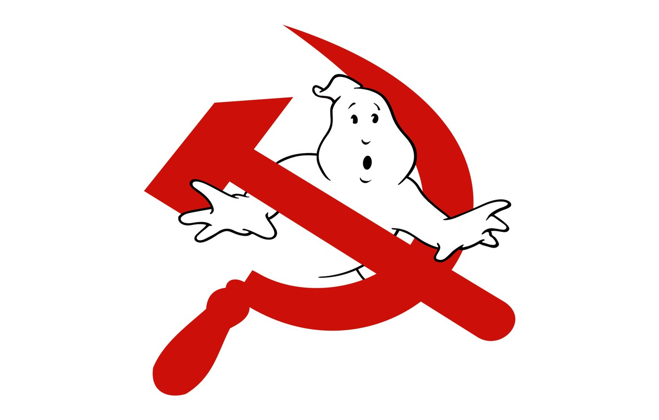 Photo wallpaper Minimalism, Communism, Ghost hunters, Ghost, The hammer and sickle, The Specter Of Communism