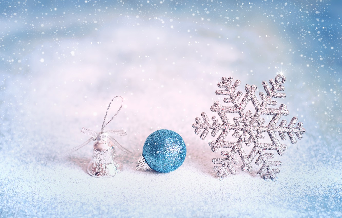 Photo wallpaper winter, snow, decoration, snowflakes, New Year, Christmas, happy, Christmas, winter, snow, New Year, Merry Christmas, …