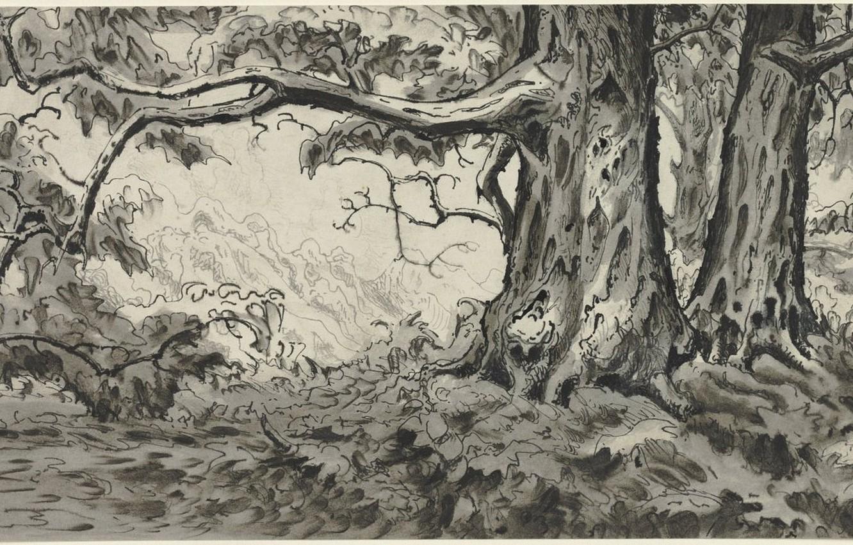Photo wallpaper 1920, Charles Ephraim Burchfield, Chestnut Trees
