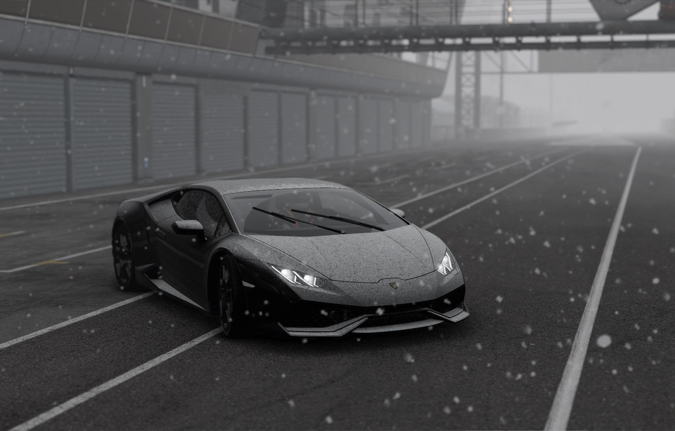Wallpaper Winter Lamborghini Huracan Project Cars 2