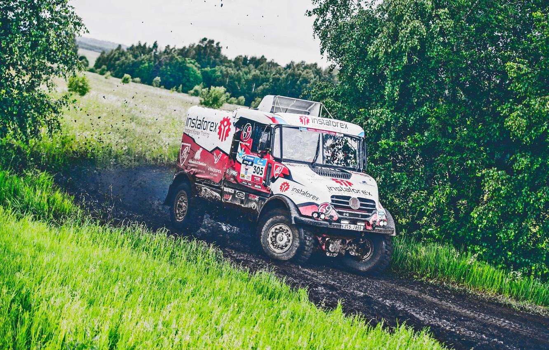 Photo wallpaper Nature, Sport, Speed, Race, Dirt, Trucks, Squirt, Russia, Rally, Rally, 305, Silk road, Silk Way, …