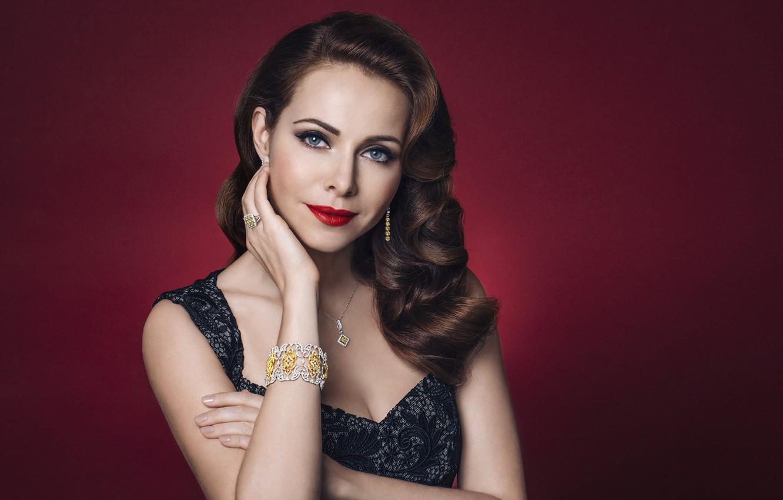 Photo wallpaper look, girl, decoration, photo, makeup, dress, beautiful, Ekaterina Guseva