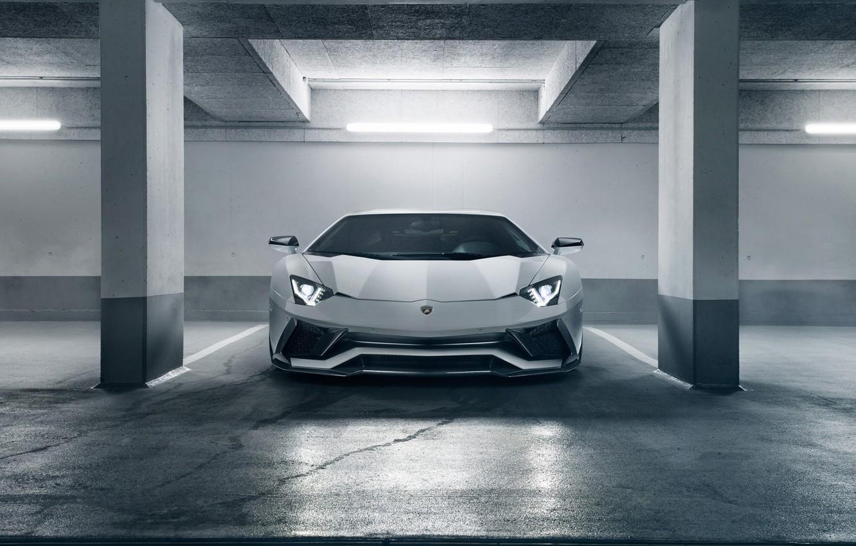 Photo wallpaper Lamborghini, supercar, front view, 2018, Novitec Torado, Aventador S