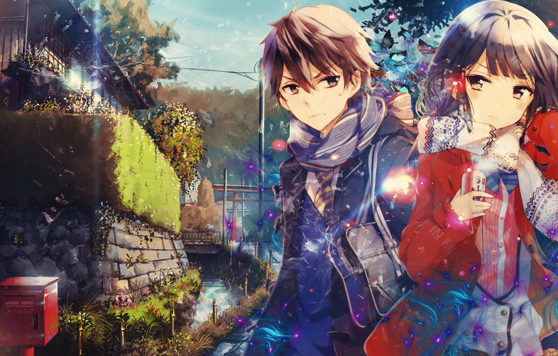 Photo wallpaper city, asian, manga, scarf, japanese, oriental, asiatic, Yasaka High School, Masamune-Only no Revenge, Masamune Makabe, …