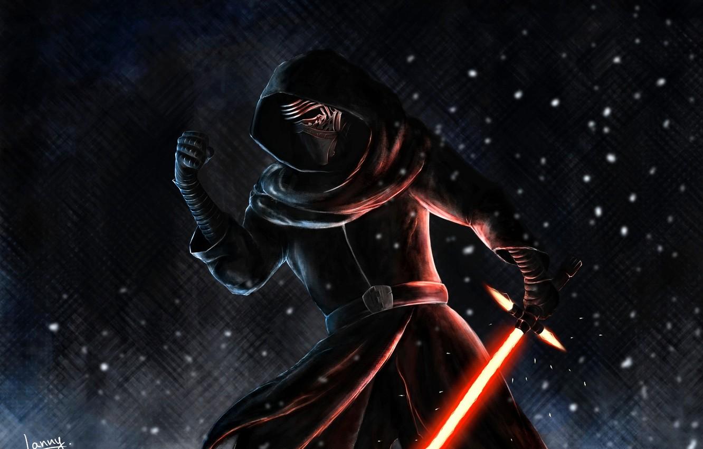 Wallpaper Fan Art Kylo Ren Star Wars Episode Vii The Force Awakens Dark Side Of The Force Images For Desktop Section Filmy Download