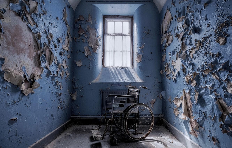 Photo wallpaper room, window, stroller