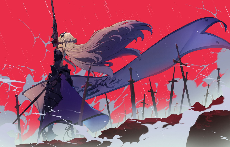 Photo wallpaper girl, anime, art, Fate Grand order