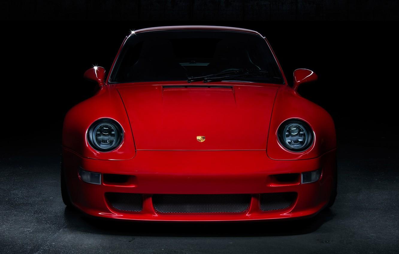 Photo wallpaper red, front, garage, 993, classic cars, Porsche 993