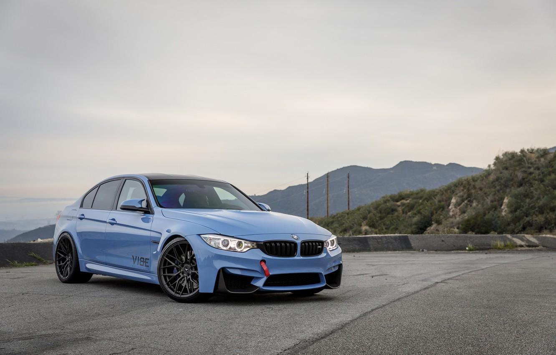 Photo wallpaper BMW, Blue, F80, Sight