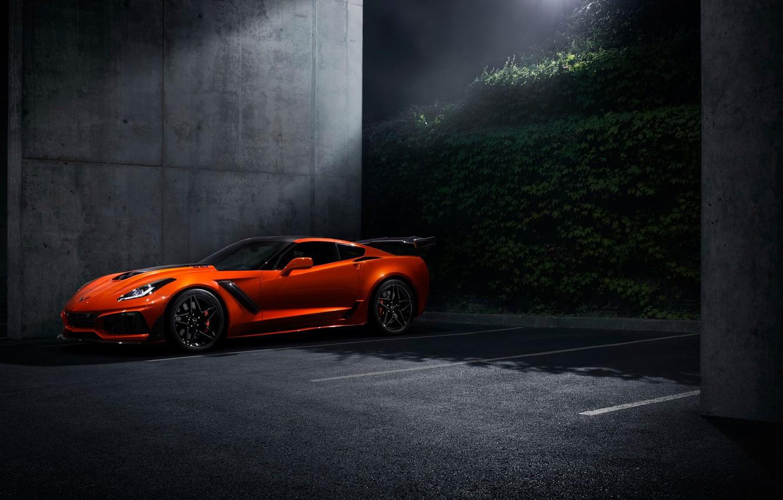 Photo wallpaper Corvette, Chevrolet, ZR1, 2019