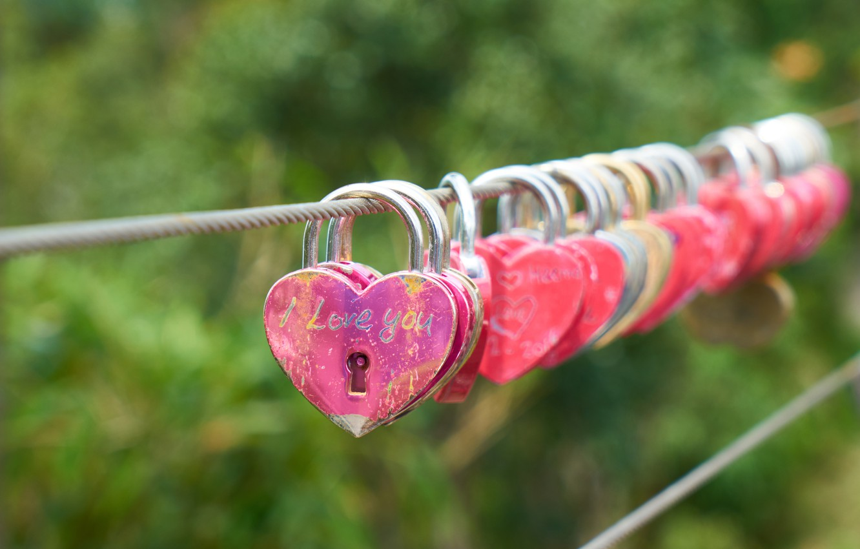 Photo wallpaper love, heart, romantic, lock
