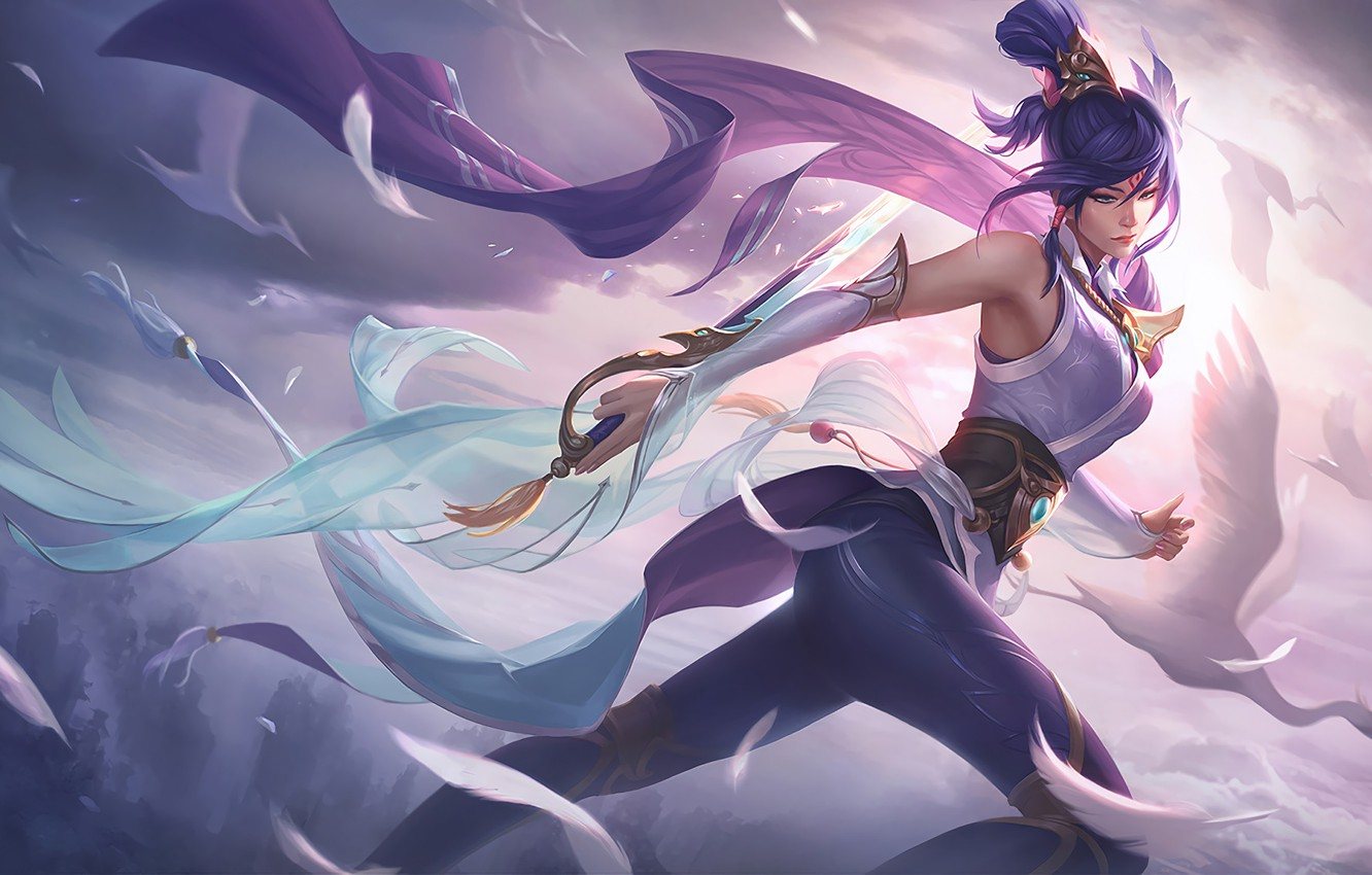 Wallpaper Fiora Fiora The Wind Soaring Sword Rapier Splash