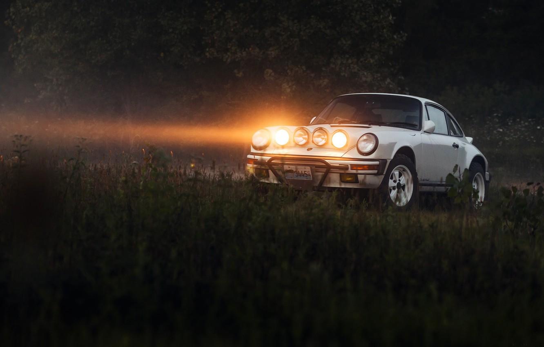 Photo wallpaper light, lights, Porsche 911, Safari, Porsche 911 Safari