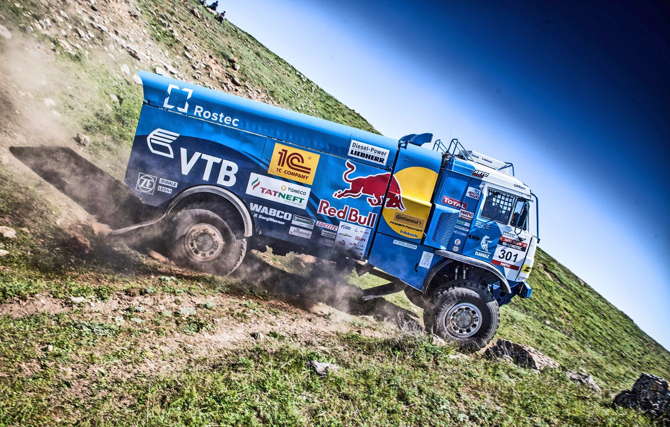 Photo wallpaper Sport, Speed, Truck, Race, Master, Russia, Kamaz, KAMAZ, Best, Master, The great steppe-the don