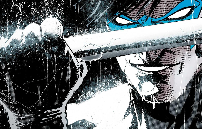 Photo wallpaper smile, weapons, hero, fist, DC Comics, Dick Grayson, Nightwing, Dick Grayson, Nightwing