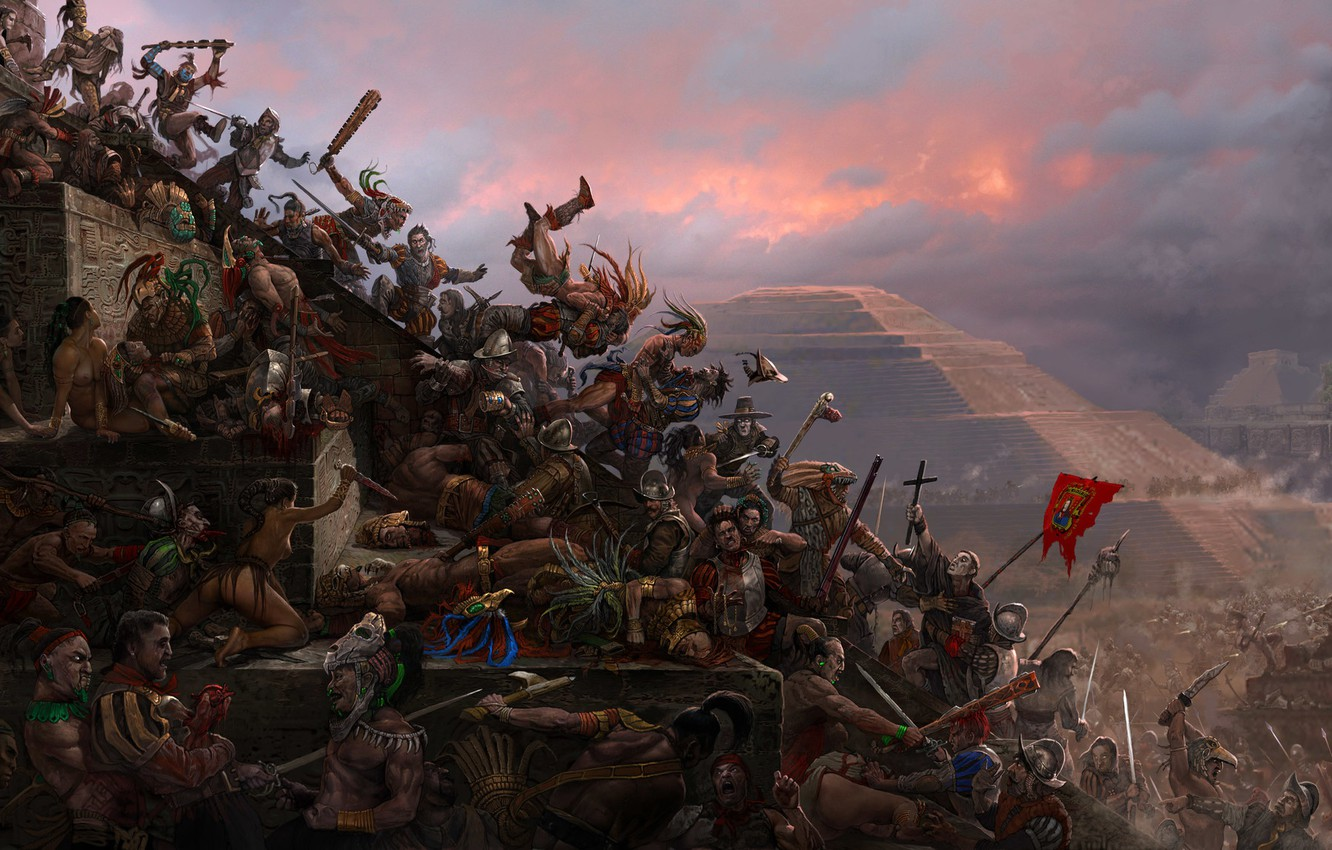 Photo wallpaper pyramid, battle, the battle, the conquest, conquest, Glory! Conquest!