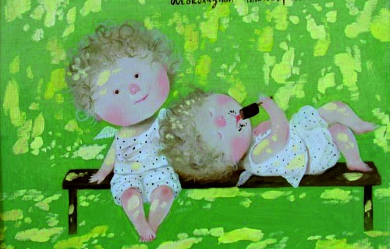 Photo wallpaper childhood, 2008, shop, ice cream, Gapchinska