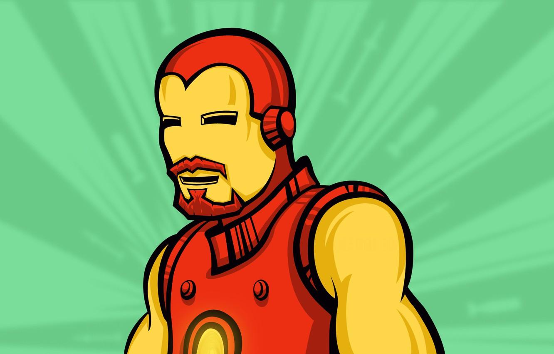 Photo wallpaper mustache, hero, Iron man, retro, Iron Man, Marvel, comic, comics, hero, baleen, Tony Stark, Tony …