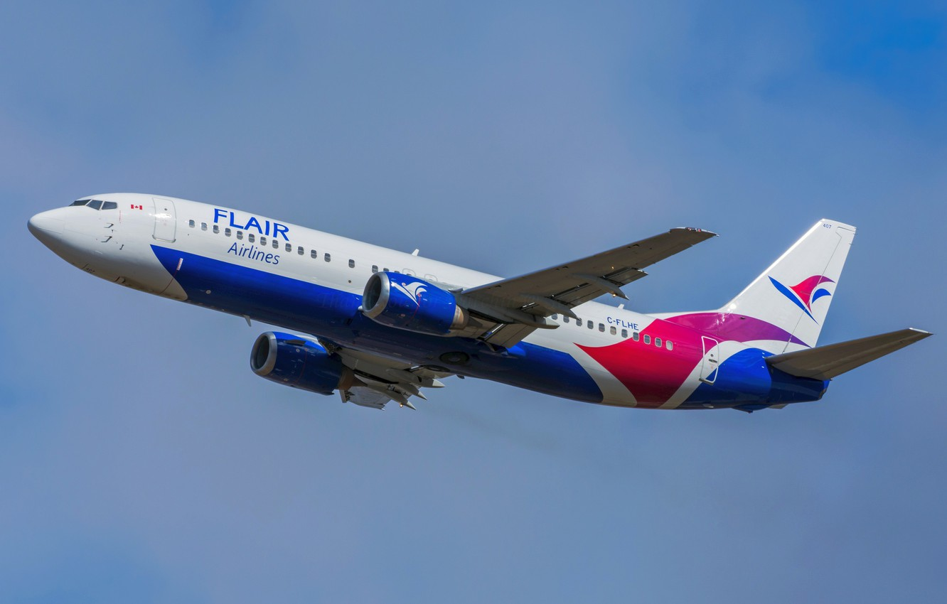 Photo wallpaper Boeing, 737-490, Flair Airlines