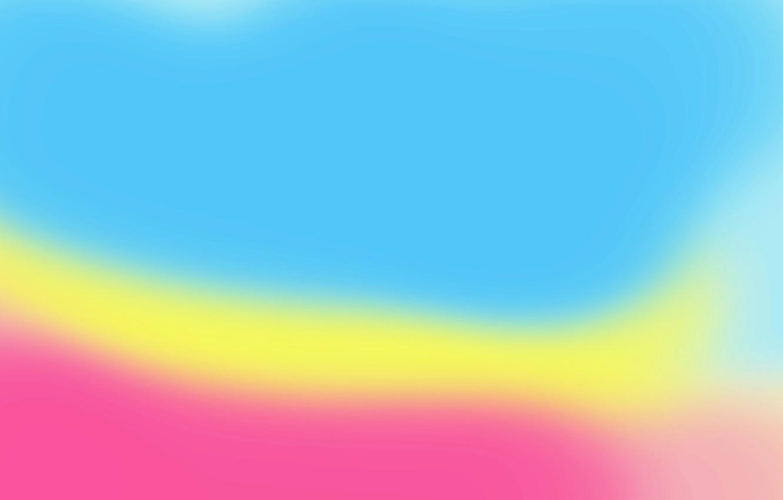 Photo wallpaper yellow, pink, blue, color, minimalism