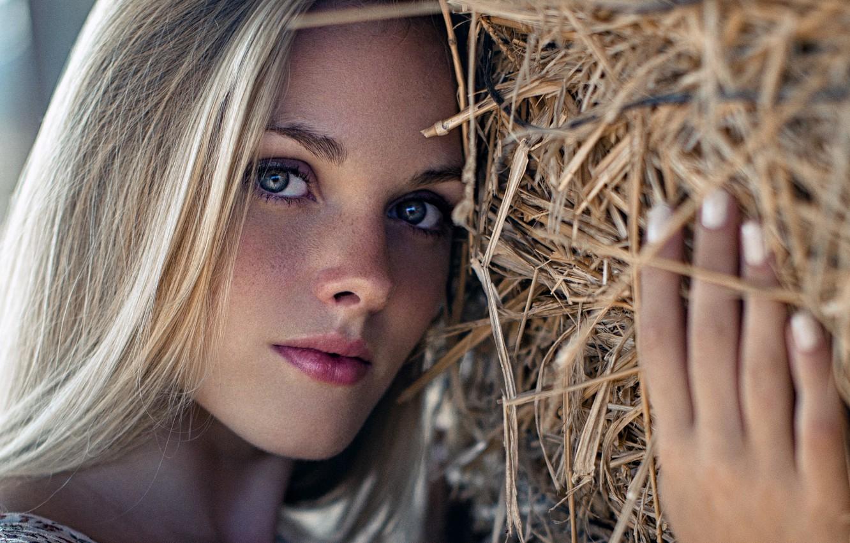 Wallpaper Girl Long Hair Photo Photographer Blue Eyes Model Beauty Bokeh Lips Face Blonde Portrait Mouth Close Up Freckles Straw Images For Desktop Section Devushki Download
