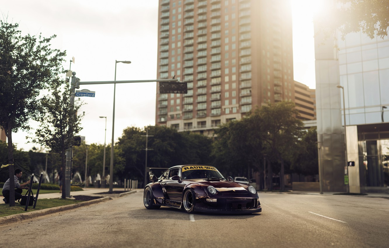 Photo wallpaper 911, Porsche, Karera, Porsche, Carrera, 1993, 993, RWB, Rough, World, Term