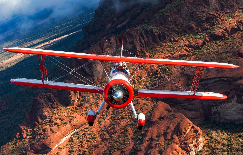 Photo wallpaper nature, the plane, wings, pilot, flight