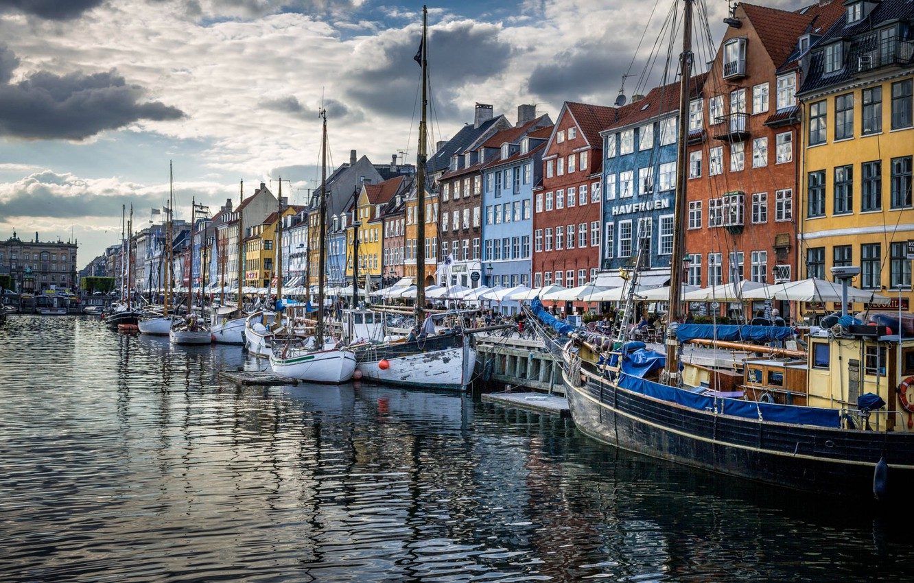 Photo wallpaper home, Denmark, promenade, Copenhagen