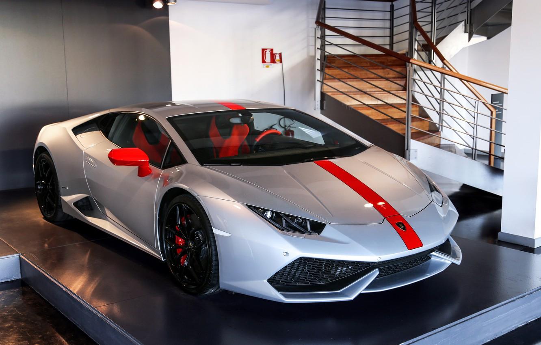 Photo wallpaper Lamborghini, Pavilion, Silver, Huracan