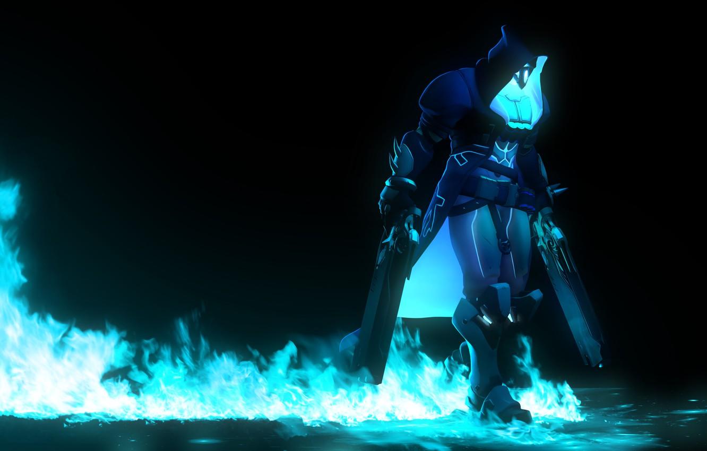 Wallpaper Death Rendering Fire Hood Mercenary Reaper