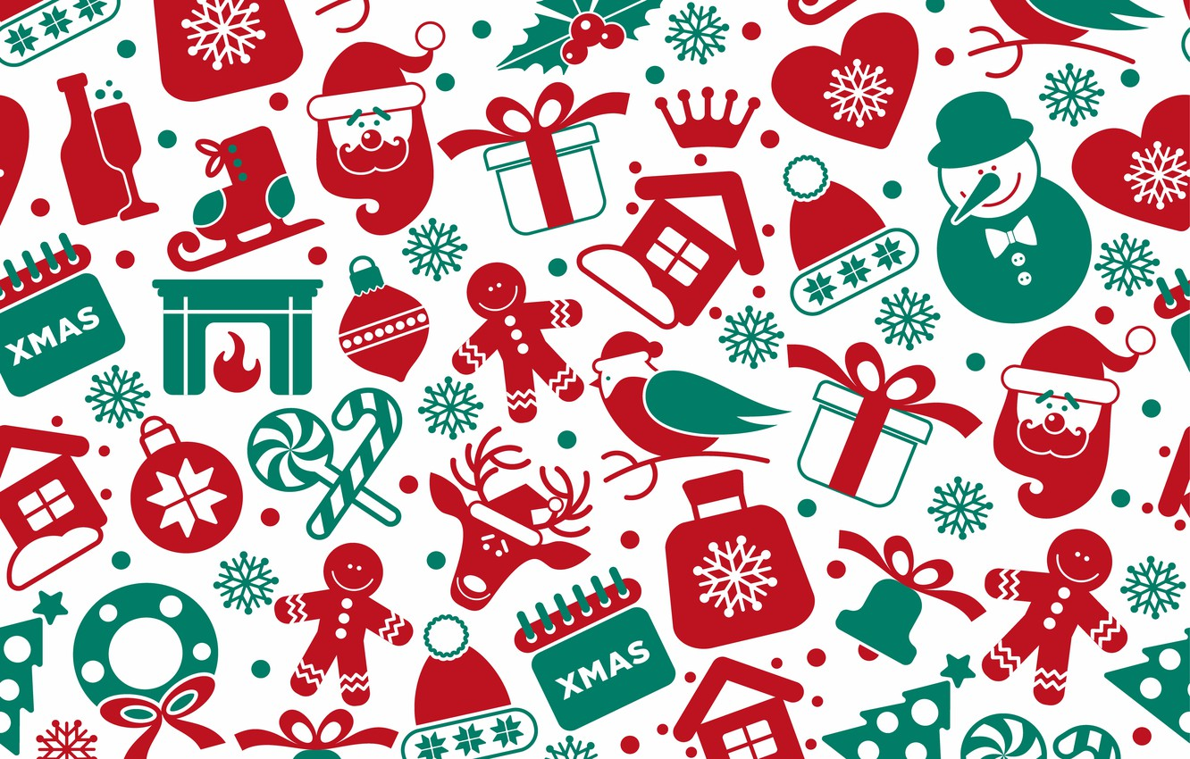 Christmas Pattern.Wallpaper Background Vector Texture Christmas Winter