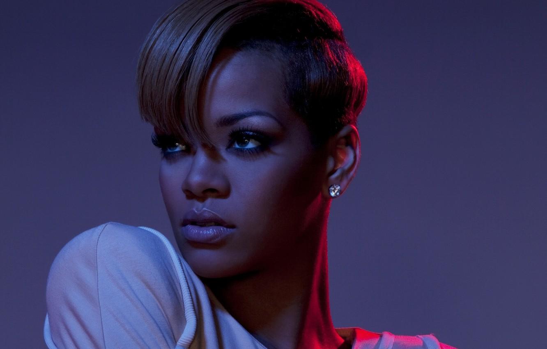 Photo wallpaper portrait, singer, Rihanna, celebrity, short hair