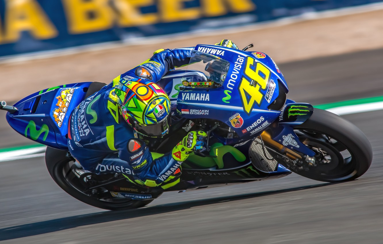 Wallpaper Speed Motorcycle Yamaha Motogp Motorsport Valentino Rossi Racing British Grand Prix Silverstone 2017 Images For Desktop Section Sport Download
