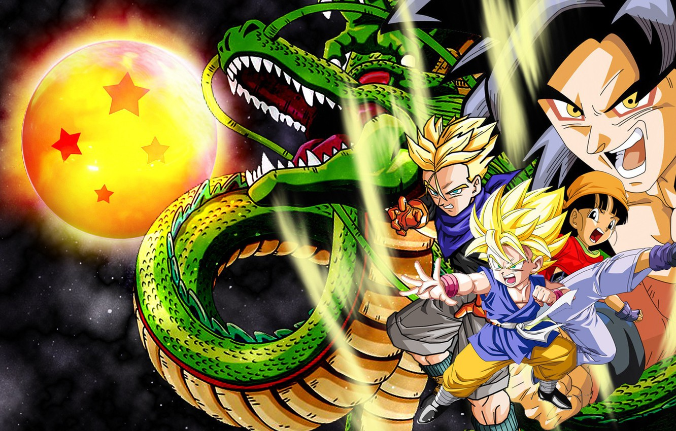 Wallpaper Anime Dragon Manga Japanese Son Goku Dragon Ball Goku Saiyan Dragon Ball Gt Super Saiyajin Images For Desktop Section Syonen Download