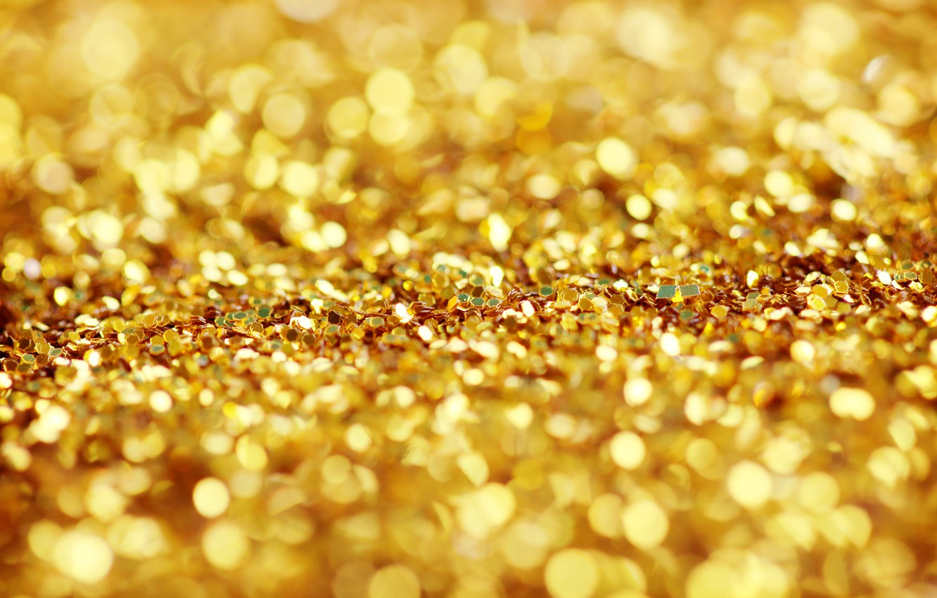Photo wallpaper background, gold, texture, sequins