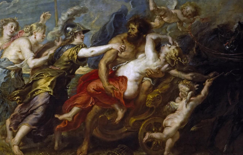 Photo wallpaper picture, Peter Paul Rubens, mythology, The Abduction Of Proserpine, Pieter Paul Rubens