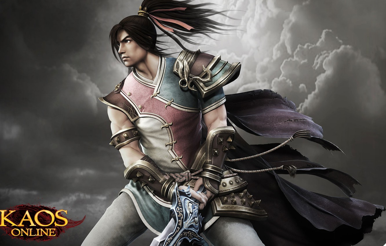 Photo wallpaper weapons, the game, armor, warrior, art, character, LVL, Chaos Online