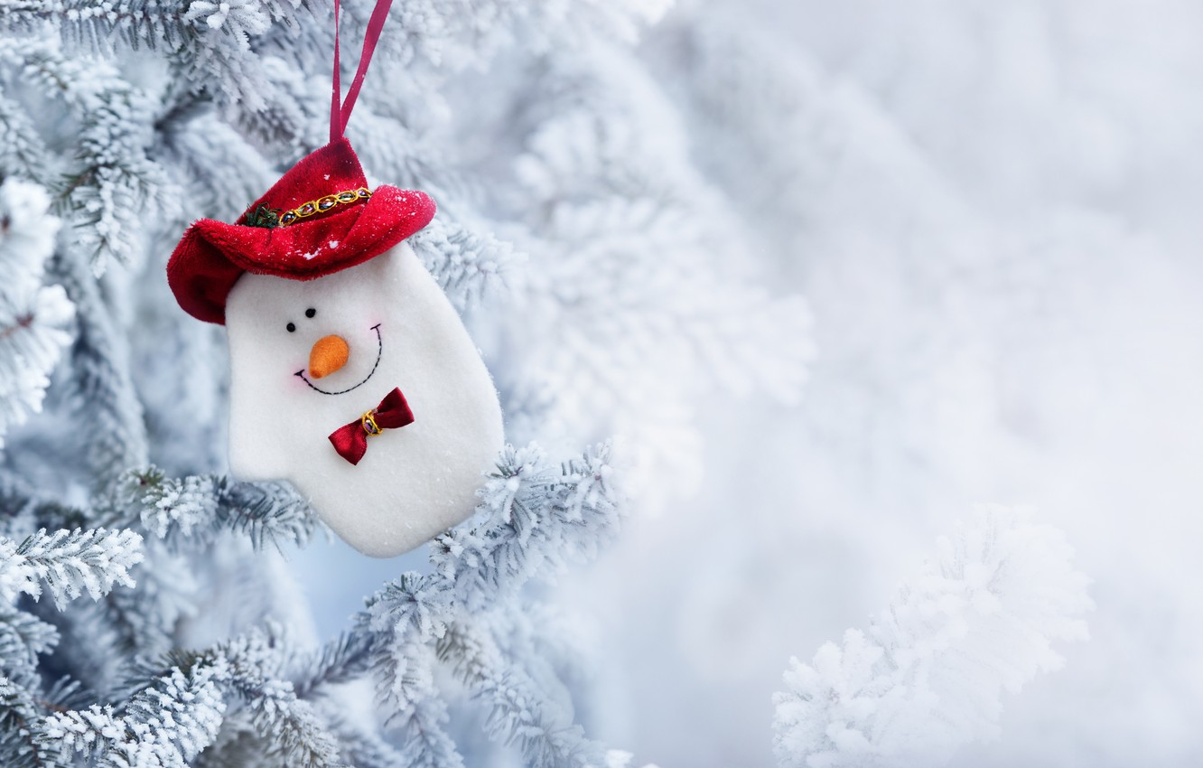 Photo wallpaper winter, snow, toy, tree, New Year, Christmas, snowman, Christmas, winter, snow, Merry Christmas, Xmas, snowman, …